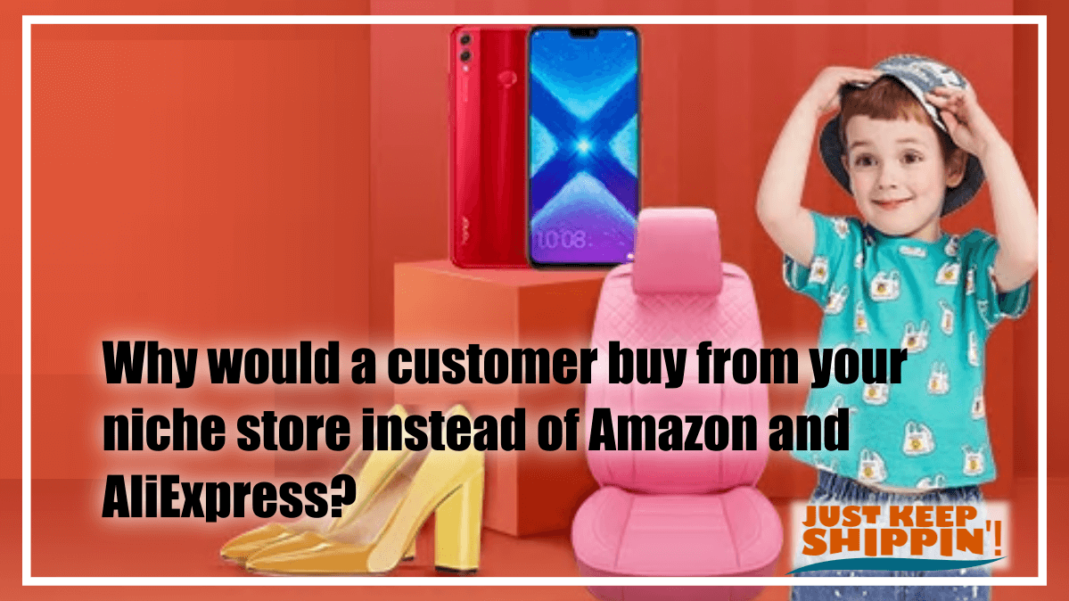 Why would a customer buy from your niche store instead of Amazon and AliExpress?